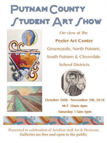 Putnam County Student Art Show flyer