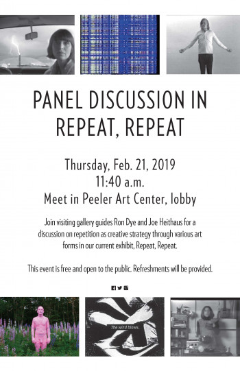Gallery Discussion with Professors Ron Dye and Joseph Heithaus in Repeat, Repeat