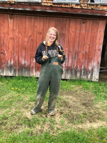 Shelby on an organic farm