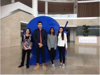 Student team participating in Professor Ota's four-year long exhibition
