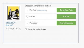 Screenshot of Duo prompt screen