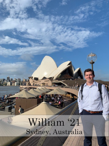 William Class of 2020 In Sydney Australia Studying Abroad