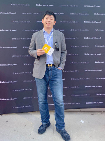 Zhu Chao at Forbes 30 under 30 event