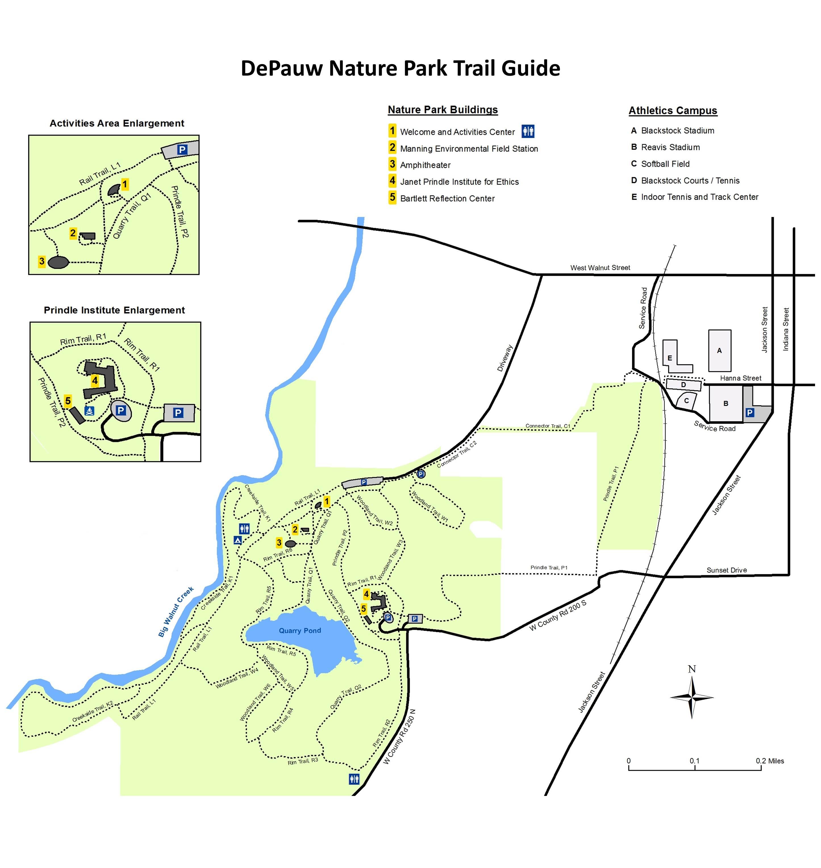 Loras Campus Map.Trail Guide Depauw University