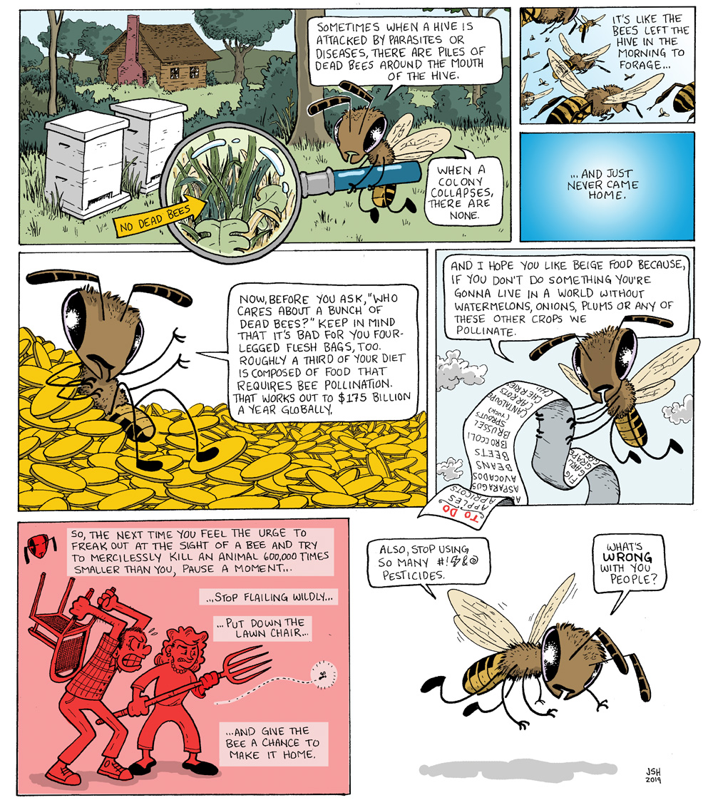 Page 2 of Jay Hosler's bee comic