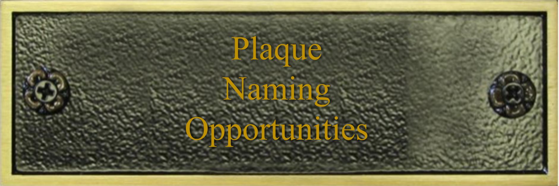 CDI Naming Plaque