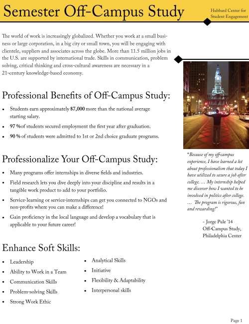 Semester Off-Campus Study Link