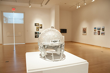 senior art exhibit 2016 AJ Houk Helmet
