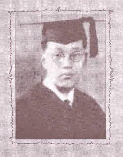 Black and white photo of Shidzuo Iikubo '23