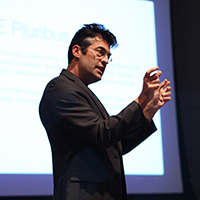 Chris Jones speaking at DePauw