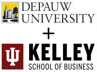 DePauw + IU Kelley School of Business logo