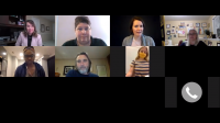 Screenshot from the youtube video over English Literature alumni