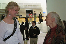 Environmental Fellow Ellen meets Jane Goodall