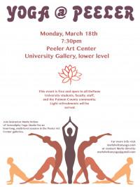 Yoga @ Peeler flyer