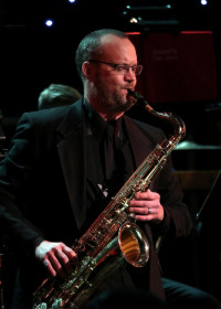 Scotty Stepp playing saxophone