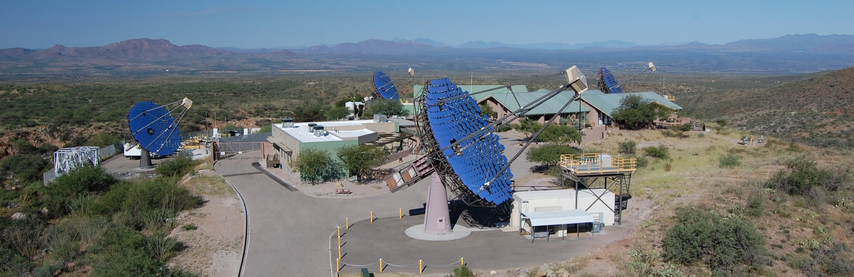 Aerial shot of VERITAS System in Tucson Arizona