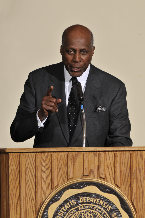 """Second Inaugural >> Vernon Jordan '57 Returns to the """"Second Home of My Youth"""" to Mark DePauw's 175th Anniversary ..."""
