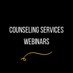 Video introductions to counseling services staff banner