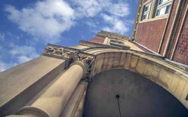 East College Looking Up