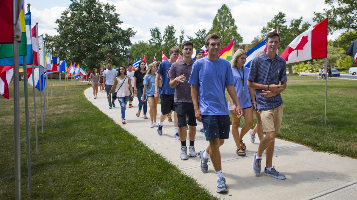 Traveling a mile – or 10,000 – First-year students find their niche at DePauw