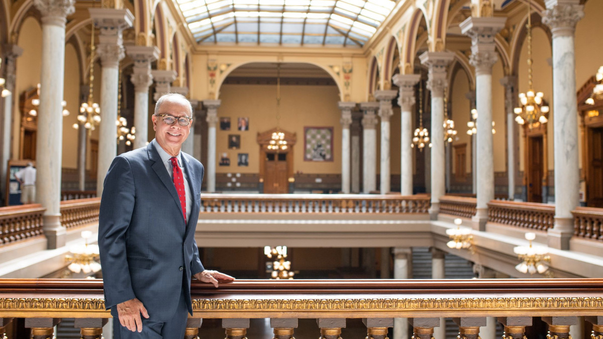 John Hammond '76 in the Indiana Statehouse