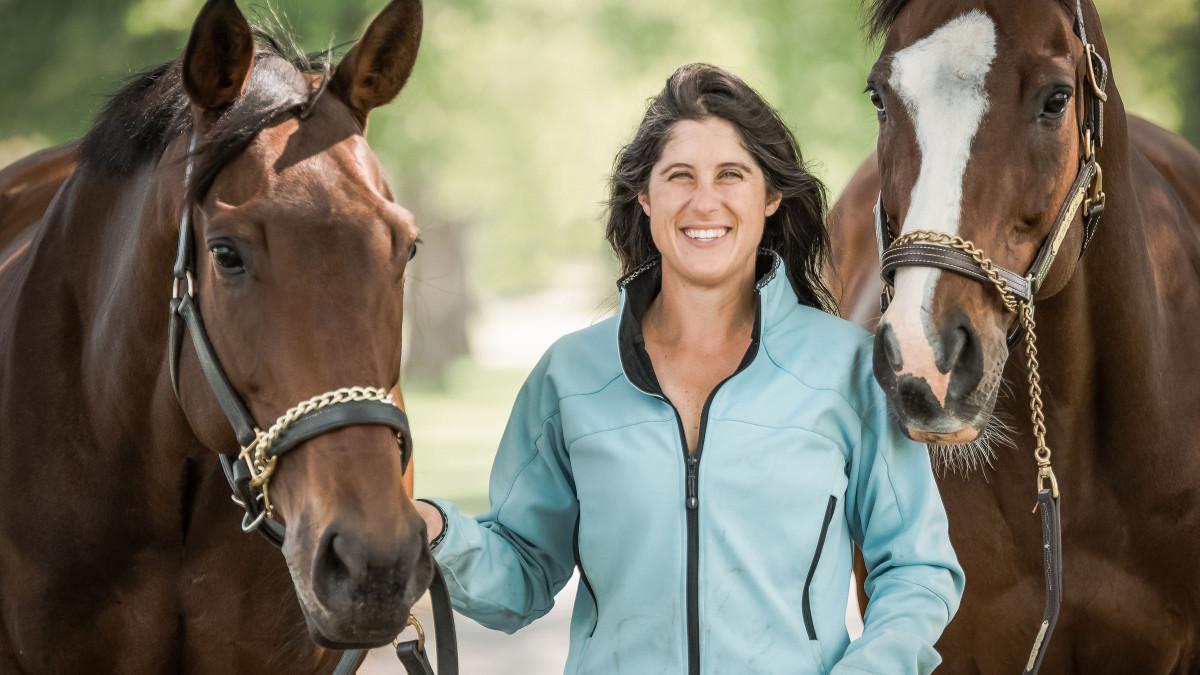 Nikki Scherrer with her horses