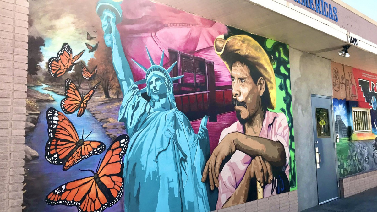 Wall at detention center