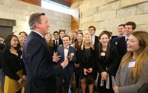 David Cameron Wows DePauw Audience