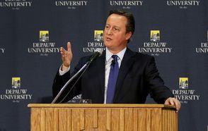 Former UK Prime Minister David Cameron Visits DePauw
