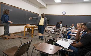 Prof Emmitt Riley III in Classroom