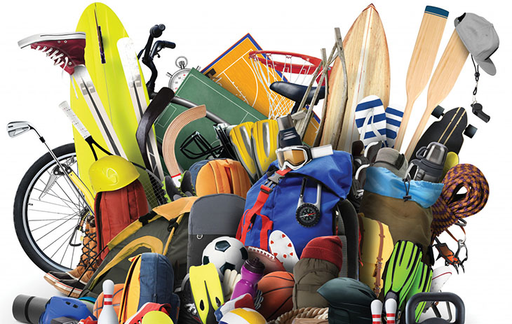 Graphic of sports equipment