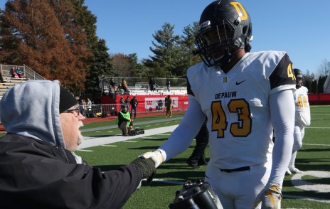 Coach Hreha quietly celebrated his 50th Monon Bell Game
