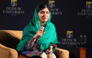 Malala Wows Crowd of About 5,000 at DePauw