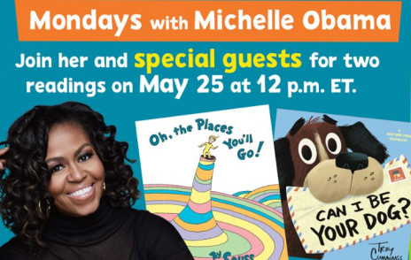 Poster of Michelle Obama and book