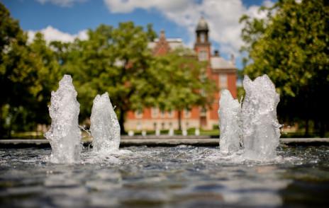 Fountain on Stewart Plaza