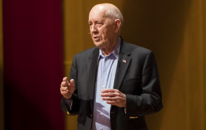 ESPN Founder Bill Rasmussen '54 Shares Lessons for Success in Business & Life in Ubben Lecture at His Alma Mater