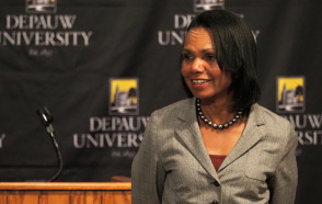 Global Scene Under Stress and Strain Today, But Condoleezza Rice Expresses Optimism for Future in Ubben Lecture