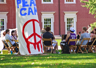 Peace Camp gets the conversation started in Holton Quad.